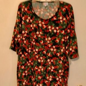 NWT LaluRoe Floral Blouse 2XL